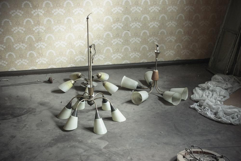 vergessene Lampen in einem Lostplase in Erfurt